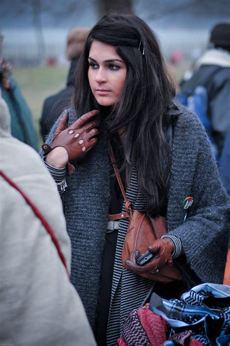 Girl with the leather gloves | At the 'Free Palestine