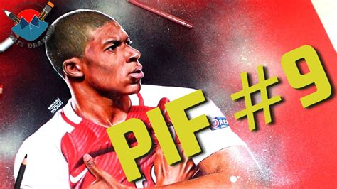 PLAYER IN FORM #9   KYLIAN MBAPPÉ (SPEED DRAWING) - YouTube
