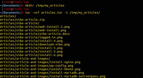 How to Extract Tar Files to Specific or Different