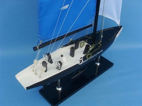 Buy Wooden BMW Oracle Model Sailboat Decoration 32in