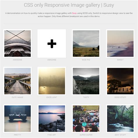 Pure CSS Responsive Image Gallery - Coding - Fribly