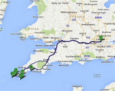 The Great English Road Trip : London to Cornwall - Bruised