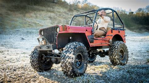 RC Scale 4x4 Off Road Willys MB Jeep Flatfender Hits The