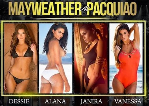 4 Hot Ring Girls of Mayweather-Pacquiao Boxing Fight