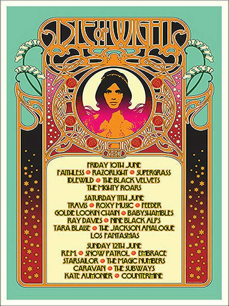Every Isle Of Wight festival poster and line-up in history