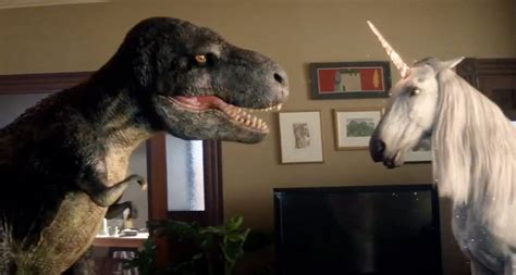 When a T-Rex Does Battle With a Unicorn in Your Home, You