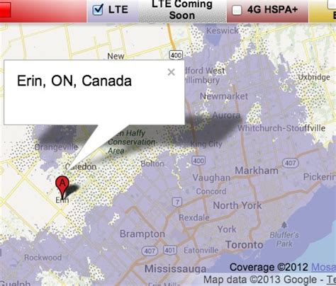 Rogers LTE Network Showing Up in Erin and Belleville in
