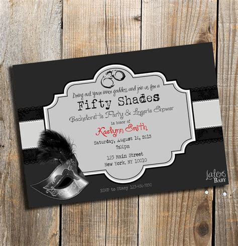 The Invites | Fifty Shades of Grey Bachelorette Party