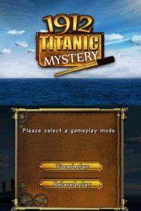 1912 Titanic Mystery NDS Rom - Download Game PS1 PSP Roms