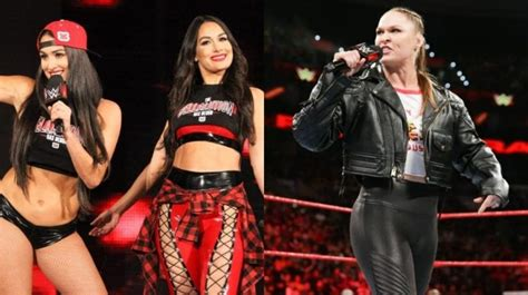 Ronda Rousey wrote the entire promo about The Bella Twins