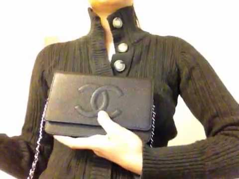 CHANEL Classic Timeless Black Caviar WOC Wallet On Chain