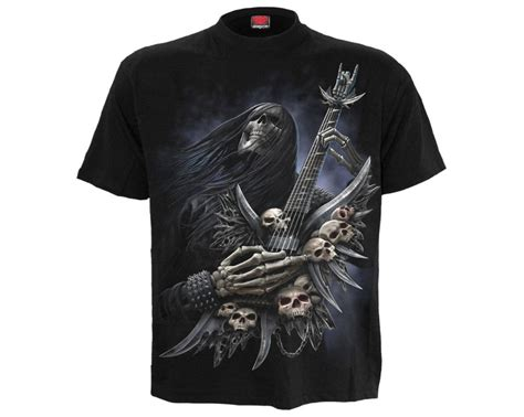 Rock on - metal squelette - T-shirt homme goth manches courtes