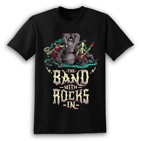 The Band With Rocks In T-Shirt   Terry Pratchett's