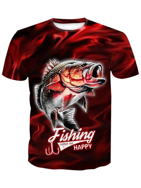 Fishing Makes Me Happy Red Lightning Fisher Hoodie 3D, T