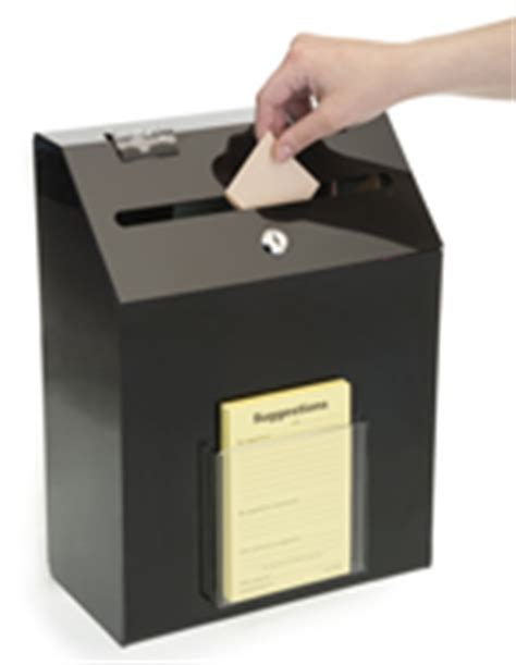 Wall Suggestion Boxes   Plastic, Wood & Metal