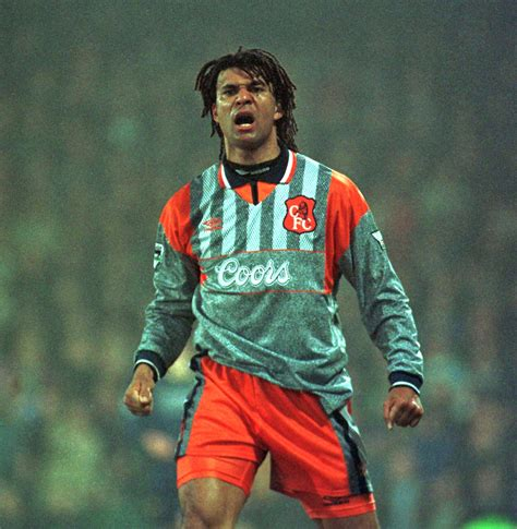 Ruud Gullit | Ruud Gullit voices his disgust at a linesman