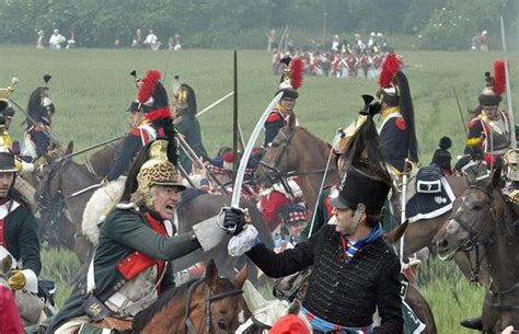 Re-enactment of Napoleon's famous battle of Waterloo