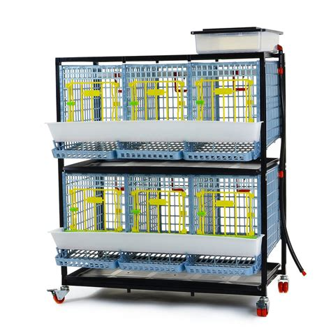 """Chicken Cage - 2 Layer H: 15"""" (Breeding Pen, Stackable"""