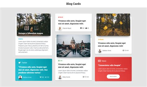 Modern - Bootstrap 4 Cards by adamthemes | CodeCanyon