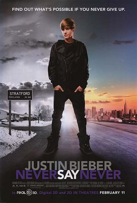 Justin Bieber: Never say Never movie posters at movie