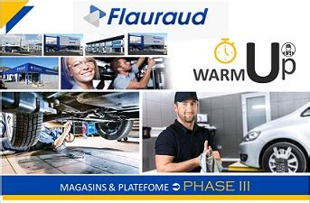 FLAURAUD « Warm Up III »: 6 Magasins supplémentaires