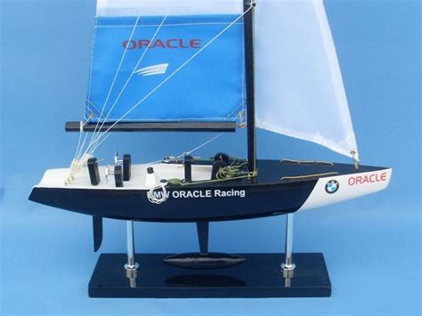 Buy Wooden BMW Oracle Model Sailboat Decoration 23in