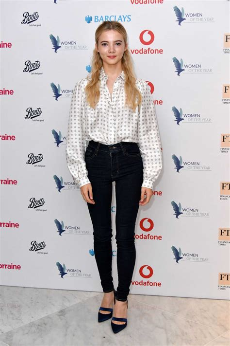 Freya Allan Attends 2019 Women of the Year Lunch and