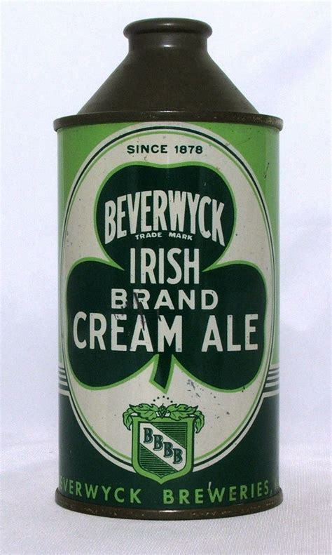 Beverwyck Cream Ale 12 oz Cone Top Beer Can Albany New