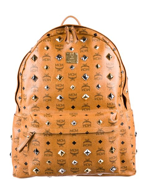 MCM Visetos Stark Medium Backpack - Bags - W3022103 | The