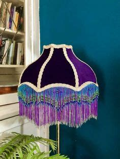 GOTHIC LAMP SHADE SLIPCOVER   Victorian lamps, Halloween