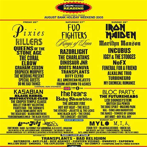Every Reading & Leeds festival line-up poster in history