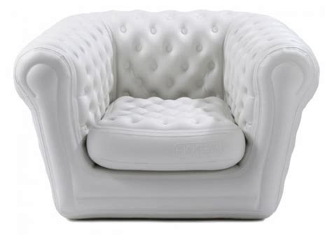 Location Fauteuil Chesterfield Gonflable Blanc Crème