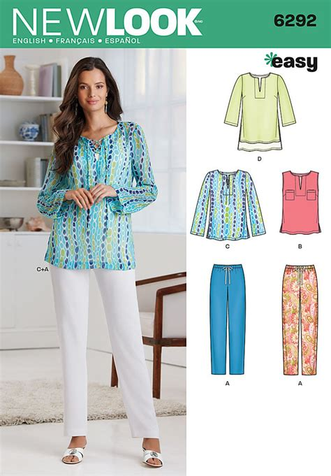 New Look Pattern: 6292 Misses' Tunic or Top & Pull-on