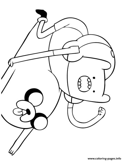 Finn Riding Jake Adventure Time Coloring Pages Printable