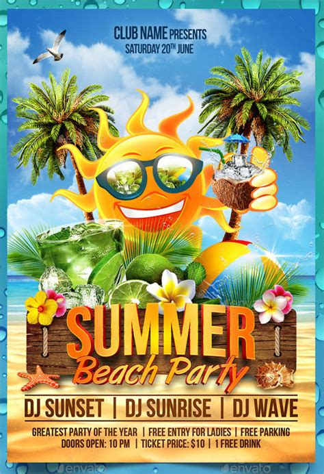 13+ Summer Party Flyer Templates - PSD, PDF, InDesign, EPS