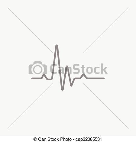 Battement, cardiogramme, hheart, ligne, icon