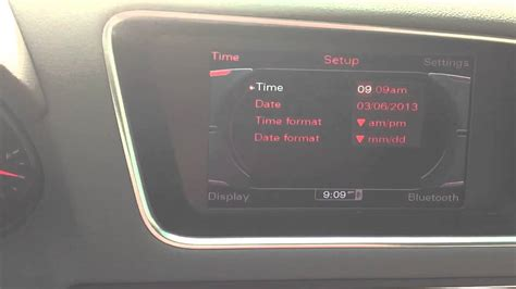 How to set clock on Audi - YouTube