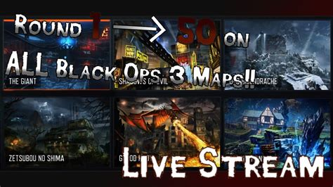 ROUND 1 - 50 on ALL ZOMBIES MAPS - Part 1 - Call of Duty