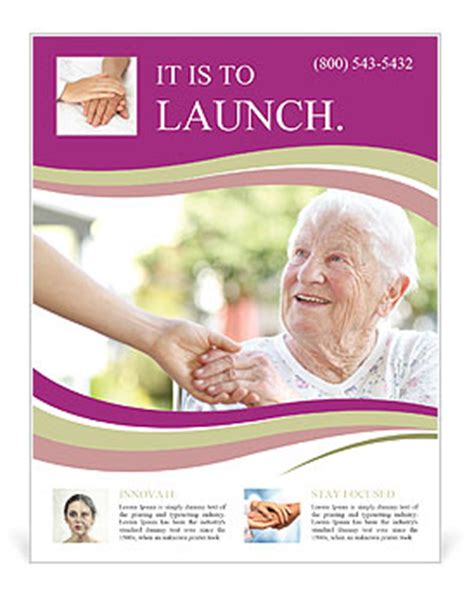 A helping hand for seniors Flyer Template & Design ID
