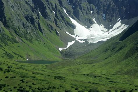 Free picture: snow, mountains, green, grass