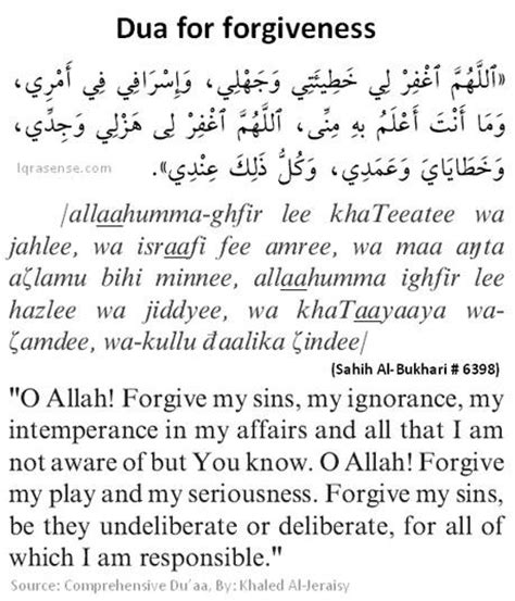 ISLAM: Dua for forgiveness of Allah