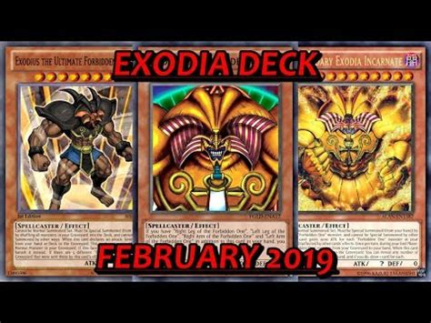 [YGO PRO] Exodia Deck - February 2019 - YouTube
