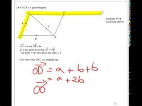 Vectors with straight lines - A star Question - YouTube