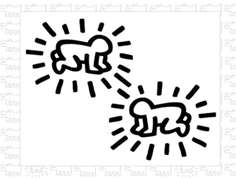 Sticker Radiant Baby Keith Haring - Stickers Muraux
