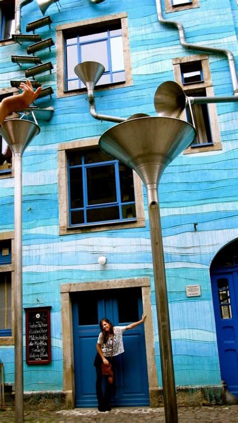 A building that plays music when it rains in Dresden