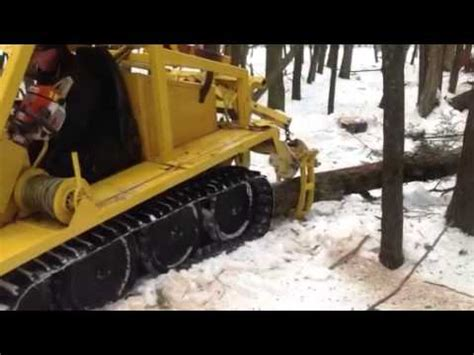 Bombardier j5 skidder - YouTube