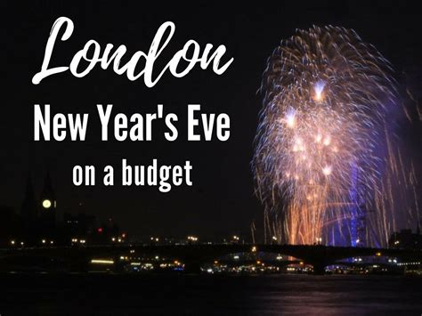 London New Year's Eve on a budget - the best low cost